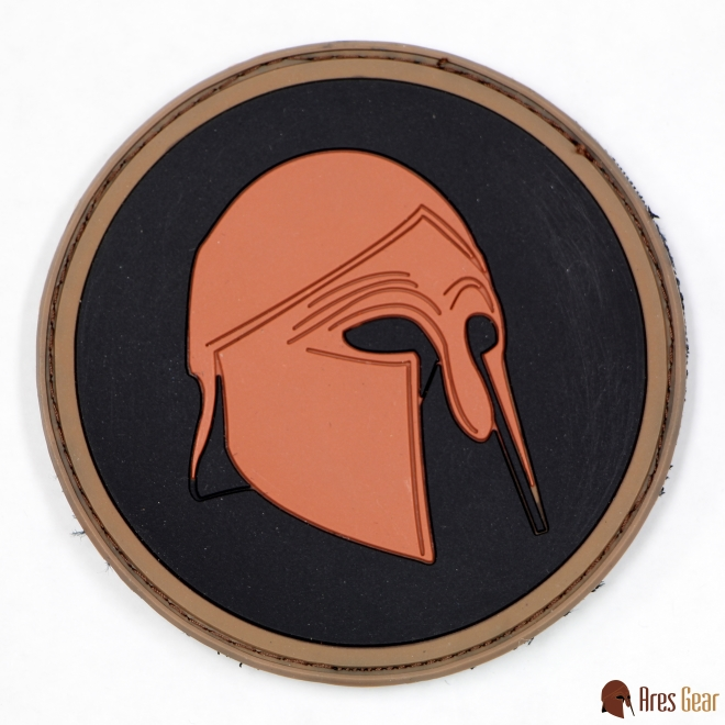 Patch, PVC, Helmet, Bronze (Round)