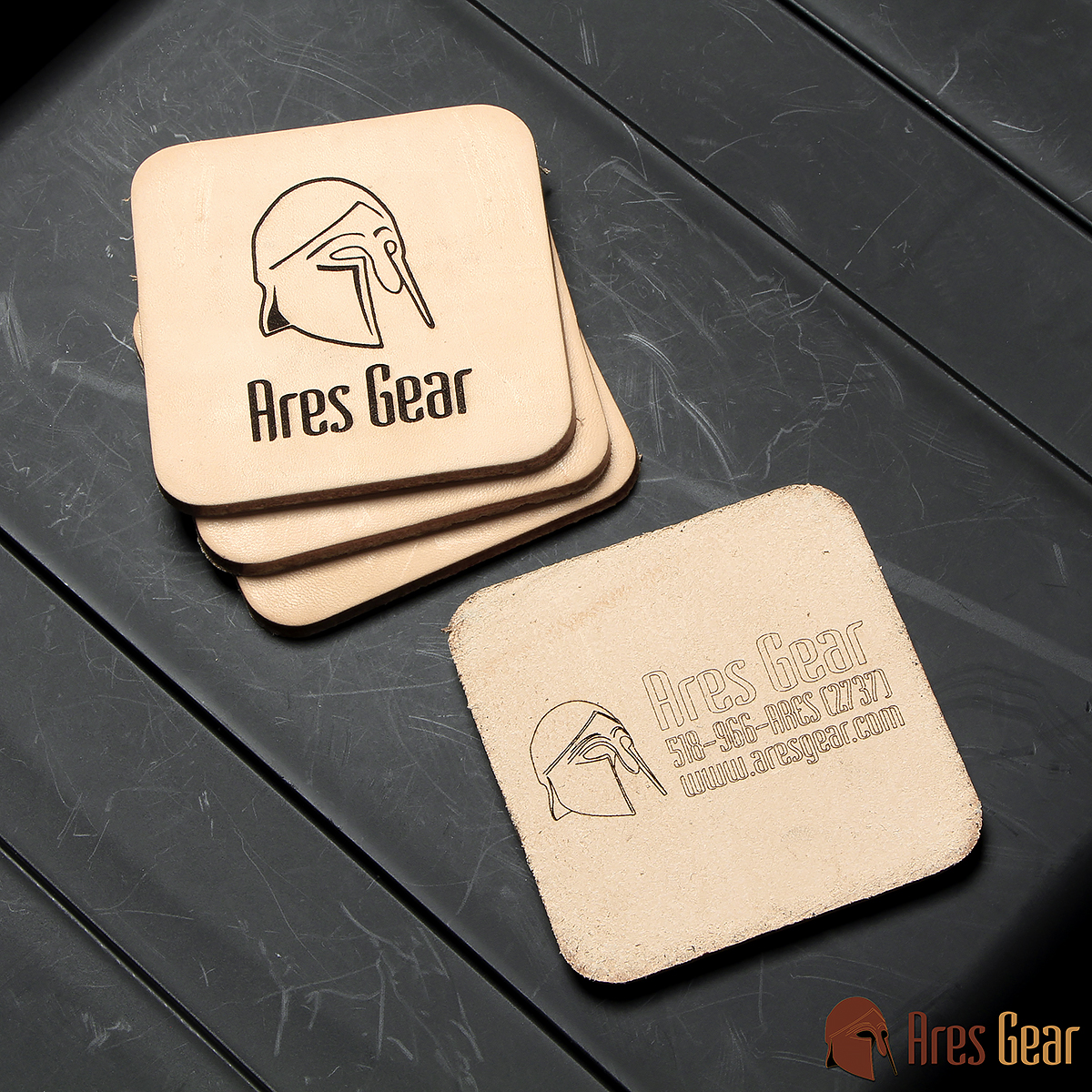 Coasters, Leather - Click Image to Close