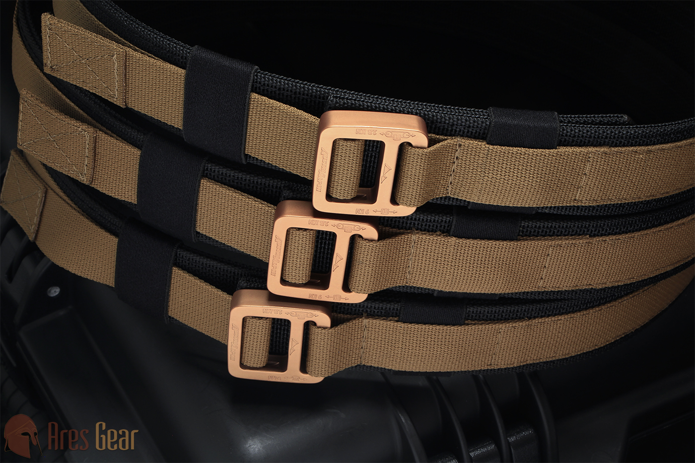Ranger LITE, SM, Coyote498, Black, Bronze Buckle