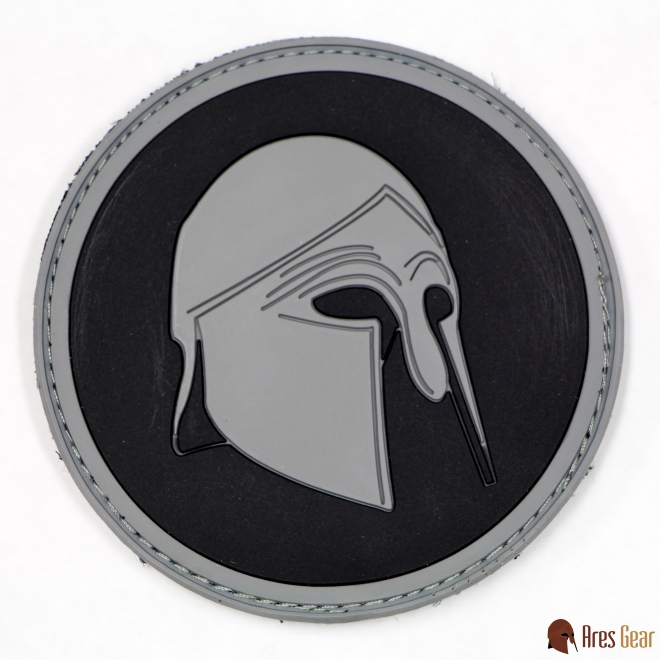 Patch, PVC, Helmet, Wolf Grey (Round)